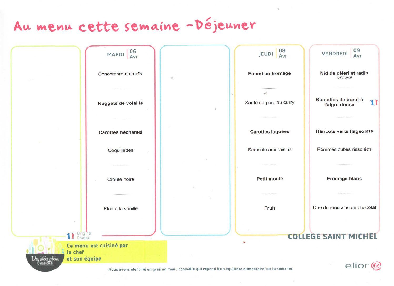 Semaine du 5 au 9 avril : maternelles – ECOLE FERMEE !!!